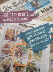 Foto in De Telegraaf. Deze foto is uitgekozen tot één van de tofste #olijven foto's op Instagram!